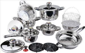 High Quality 18PCS Stainless Steel Cookware Set (CS118002) pictures & photos