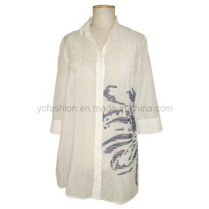 Ladies Silk-Cotton Print Tops