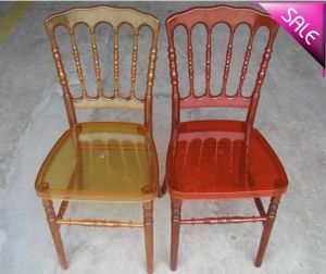 Polycarbonate Resin Napoleon Chair for Wedding pictures & photos