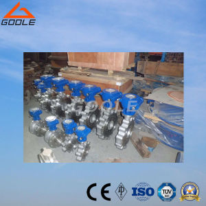 150lb/300lb API Wafer Lug Type Metal Sealing Butterfly Valve (GALD373H) pictures & photos
