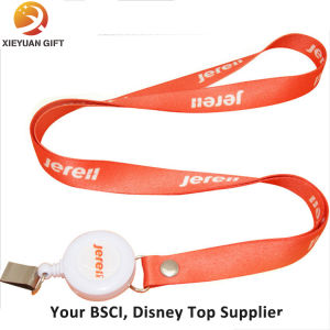 Custom Polyester Badge Reel Lanyard pictures & photos