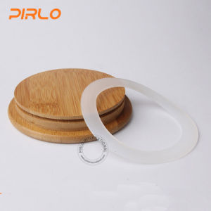 (90ml 170ml 300ml 400ml 500ml600ml800ml) Glass Jar with Rubber Seal Bamboo Wooden Lid for Spice Food Storage pictures & photos