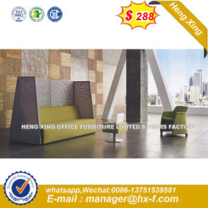 Modern Europe Design Steel Metal Leather Waiting Office Sofa (HX-S67) pictures & photos