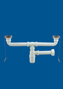 Dual Basin Waste Valve, Basin Drainer, Plastic Waste Valve pictures & photos