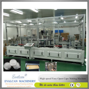 Easy Tear Aluminum Foil Peel off Drum Cap Making Machine pictures & photos