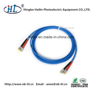 Good Durability D4/mm Om3 Fiber Optic Patch Cord pictures & photos