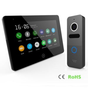 Memory 7 Inches Touch Screen Video Door Phone Home Security Interphone pictures & photos