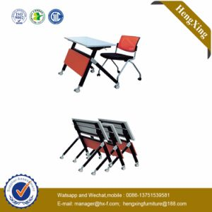 School Furniture Melamine Top Use Wood Folding Table (UL-NM054) pictures & photos