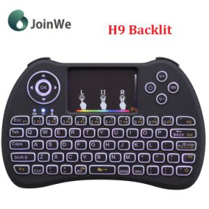Air Mouse H9 Colourful 2.4G Wireless Backlit Keyboard pictures & photos