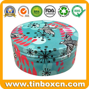Metal Can Round Cosmetic Mini Tin for Skin Care Cream pictures & photos