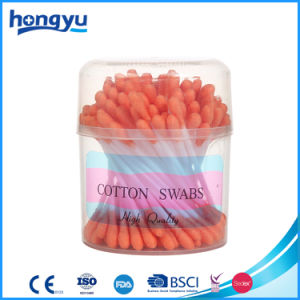 100 PCS Orange Color Cotton Buds Manufacturer pictures & photos