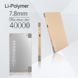 4000mAh Fast Charging Ultra Thin Credit Card Power Bank with Lighting Cable for iPhone pictures & photos