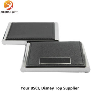 Black Leather Name Card Business Card Holder Opened pictures & photos