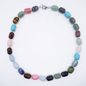 Customize Natural Stone Crystal Gemstone Handmade Women Long Necklace pictures & photos