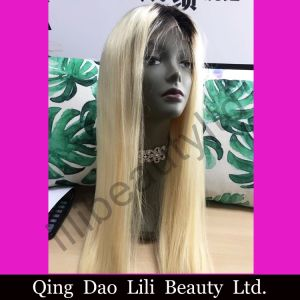 Lilibeauty 1b/613 Blonde 100% Straight Brazilian Human Hair Full Lace Wig for Black pictures & photos