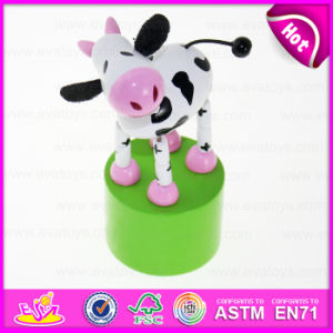 2016 Newest Wooden Animal Toy, Educational Wood Animal Toy, Popular Wooden Spring Animal Toy W06D068 pictures & photos