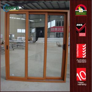 Australian Standard UPVC Sliding Doors with Sliding Screen pictures & photos