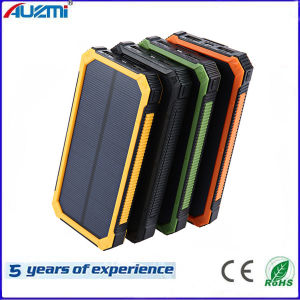 Universal Large Capacity 10000mAh Solar Power Bank for Mobile Phone