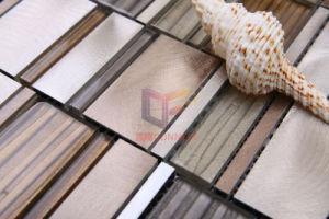 Shining Aluminium Mix Wave Glass Crystal Metal Mosaic Tiles (CFA61) pictures & photos