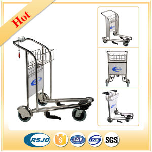 Airport Passenger Baggage Luggage Shopping Trolley Cart with Brake pictures & photos