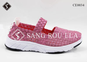 Fashion Women and Kids Weave Walking Leisure Shoes pictures & photos