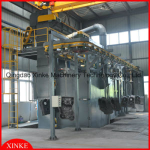 Q48 Series Hoist Pass Through Stepping Sand Blasting Abrator pictures & photos