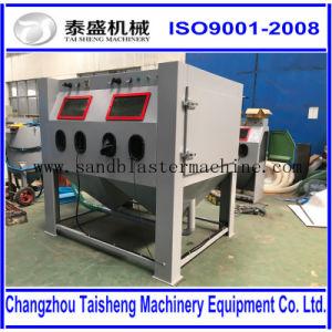 Manual cabinet sand blasting machine, pipe sandblasting machine