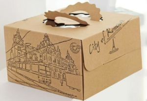 Recycle Brown Corrugated Paper Cake Packing Box/Packaging Box
