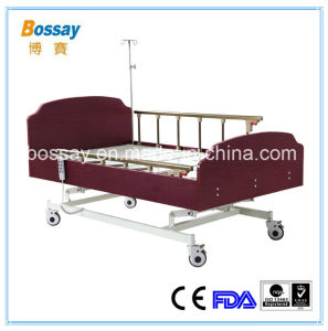Three Functions Medical Homecare Bed with MDF Headboard and Footboard pictures & photos
