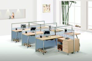 Elegant T-Shape Glass Panel Top Modern Office Cubicle Workstation (SZ-WS338) pictures & photos