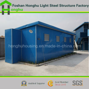 Economic Prefabricated Home Prefabricated House Steel Frame Plat Roof House pictures & photos