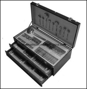 125PCS Cutlery Set with Wood Box pictures & photos