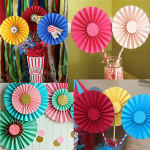 Sweet Paper Hanging Fans for Birthday Wedding Party