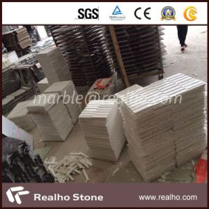 Nature Strip Tile Pure White Marble Mosaic for Bathroom Wall pictures & photos