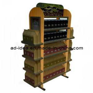 Flooring Wooden Wine Bottle Display Shelf/Beverage Exhibition Rack (AD-1305) pictures & photos