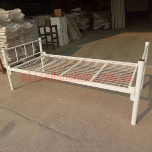Export Bedroom Furniture Powder Coating Strong Steel Mesh Bed, Single Bed Frame pictures & photos