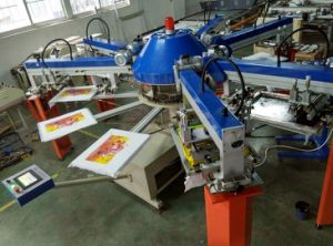Spg-156/10 6 Colors 10 Stations Automatic T Shirt/Garment Screen Printing Machine pictures & photos