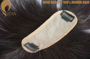 Wholesale Hand Tied 100% Remy Human Hairpiece with Factory Price pictures & photos