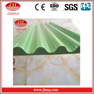 Green PVDF/Powder Coated Aluminum Corrugated Plate Decorative Wall Panel (Jh121)