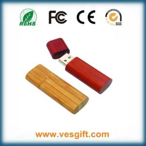 Personalized Printing Logo Wood USB Pendrive pictures & photos