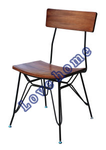 Industrial Metal Dining Restaurant Furniture Wooden Chair pictures & photos
