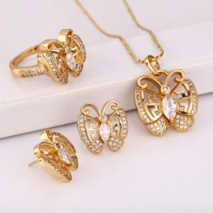 Fashion Elegant CZ Crystal Animal Butterfly Jewelry Set for Women′s Best Gift --61656 pictures & photos