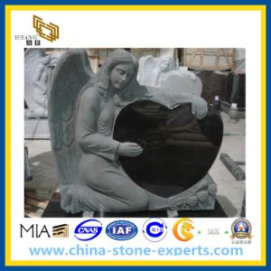 Angel Heart Black Granite Stone Headstone for Tombstone/Monument/Graverstone pictures & photos