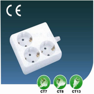 Three Ways European Standard Electrical Outlet Socket