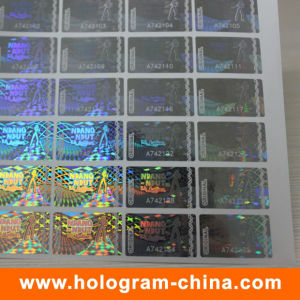 Holographic Transparent Laser Serial Number Hologram Stickers pictures & photos