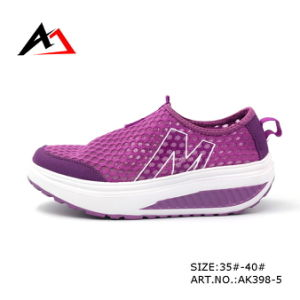 Health Shoes Swing Wedges Casual Breathable Footwear for Women (AK398-1) pictures & photos