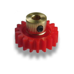 OEM ISO Professionally Nylon 18 Tooth Gear with Brass Hub/Grub Screw pictures & photos