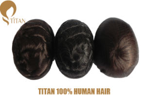 100% Remy Human Hairpieces with Thin Skin Base for Man pictures & photos