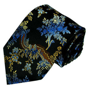 New Fashion Red Rose Flower Design Men′s Woven Silk Neckties pictures & photos