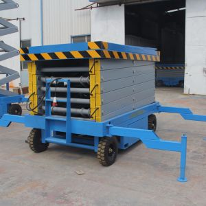 Ce Approved Hot Sale 4-20m Hydraulic Electric Scissor Lift Platform pictures & photos